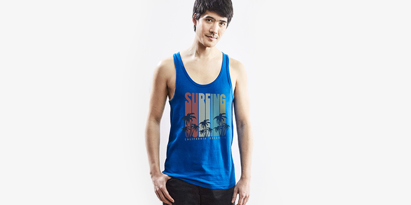 Choose from among your favourite tank tops and print all your ideas