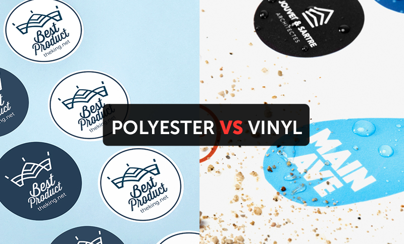 What is the difference between polyester and vinyl sticker